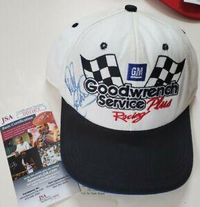 NICE Autographed Dale Earnhardt Sr Vintage Snapback Hat Goodwrench Service JSA