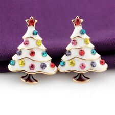 White Christmas Tree Stud Earring