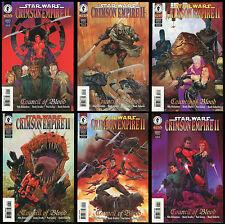 Star Wars Crimsom Empire 2 Council of Blood Comic Set 1-2-3-4-5-6 Lot Dorman art