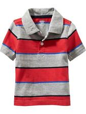 Old Navy Boys' Polo Striped Red/Gray (GBON-PS04) Size 2 years old