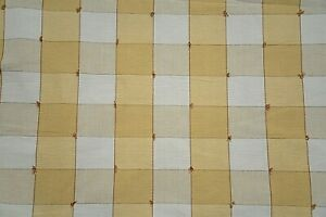 Vintage By the Yard Kravet Tufted Plaid Square Check Upholstery fabric Heavy