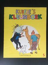 Album Cahier à colorier  Kuifje's KleurboekTintin N° 5 1968 TBE
