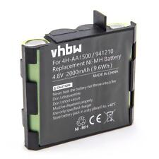 Batterie 2000mAh 4.8V Ni-Mh pour Compex 4H-AA1500,4H-AA2000,941210,941213