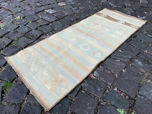 Bath rug, Small rug, Vintage rug, Wool rug, Home decor, Bath rugs | 1,4 x 3,7 ft