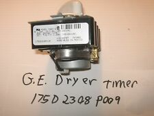 GE Dryer Timer Part # 175D2308P009 90 days warranty. free shipping.