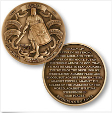 Armor of God - High Relief - Ephesians 6:10-12 Bronze Challenge Coin