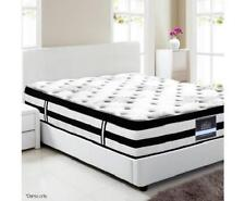 Euro Pillow Top 5 Zone Pocket Spring Bed Mattress Medium Firmness - King Single