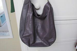 Coach Lavender Croc Hobo Bag