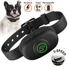 No Shock Dog Training Collar Waterproof Anti Bark Rechargeable Adjustable 6lb