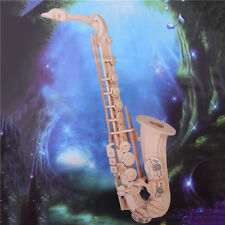 Diy 3D Children Kids Puzzle 2 Plates of Saxophone Model Puzzle Enlightenment Toy