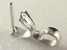 18K White Gold Pendant Clasp Hook / Middle Size