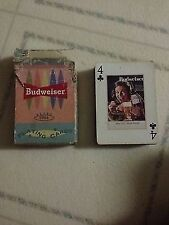 1961 Budweiser Retro Playing Cards By Bicycle! Good Condition!