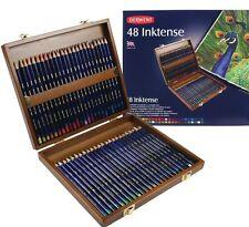 Derwent inktense luxe boîte en bois de pure couleurs vives crayons 48 set