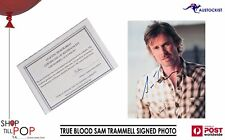 """TRUE BLOOD SAM TRAMMELL SIGNED 8x10"""" PHOTO with COA HBO Authentic memorabilia"""
