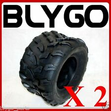 "2X QIND 4PLY 18 X 9.50 - 8"" inch Rear ChunkyTyre Tire Quad Dirt Bike ATV Buggy"