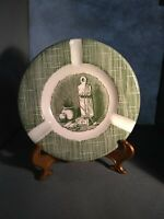 """Currier and Ives VINTAGE TAYLOR SMITH PASTORAL ASHTRAY 5.5"""" pipe rest"""