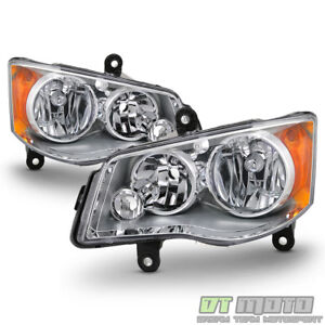 2011-2019 Dodge Grand Caravan 08-16 Chrysler Town & Country Headlights Headlamps