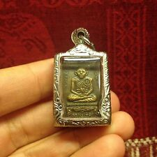 Magic Mini Rare Lp Puek Kot Yant Thai Buddha Amulet Talisman Luck Rich Protect