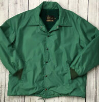 Vintage Sears The Mens Store Jacket Outerwear Green Nylon Soft Shell SZ 46  2025