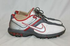 Nike Air Zoom Rival Golf Shoes Mens US 11.5 White Red Grey 552082 102 GUC