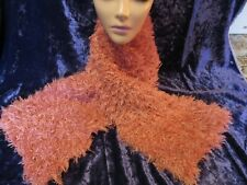 Super Fur Hand Knitted Fluffy Scarf Pink (1)