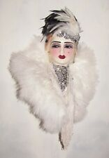 Unique Creations Limited Edition Lady Face Mask Wall Hanging Decor - NEW IN BOX