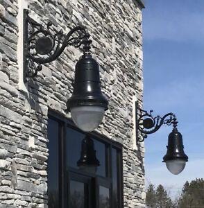 1 Vintage NYC Street Light for Pole/wall, Antique LED Renaissance Urban