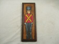 Country Carvings Hand Carved Painted Toy Solider Wood Art Decor Plaque