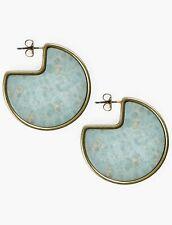 LUCKY BRAND Women's Jasper Stone Slice Earrings Gold Tone NWT Retail $35