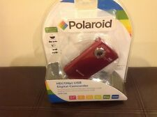 POLAROID HD (720P) USB DIGITAL CAMCORDER DVF-720 - RED - NEW