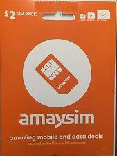 AMAY SIM CARD TriSIM 3G 4G FREE DELIVERY