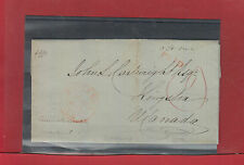 OHMS manuscript, PAID, MONTREAL double ring 1839 Stampless Canada cover