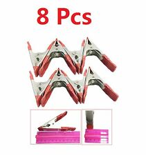 4 inch Mini Metal Spring Clamps w/ Red Rubber Tips Tool LOT of 8 Pcs