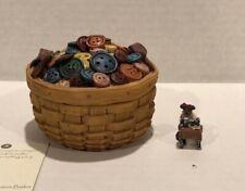 Boyds Longaberger Button Treasure Basket Mib by enesco