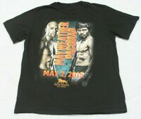 Mayweather Pacquiao Black Graphic Tee T-Shirt Top XL X-Large Short Sleeve Boxing