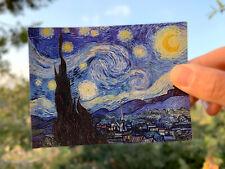 "Starry Night by Van Gogh 3"" x 4"" UV coated gloss sticker laptop notebook"