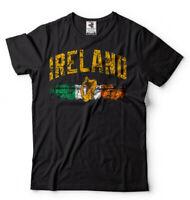 Ireland T-shirt Irish Flag Coat of Arms National Symbols Shirt Éire Tee Shirt
