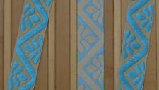 "1.10"" (2.79 Cm) wide By The Yard Jacquard Trim Woven Braid Sew Ribbon T734"