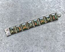 Antique Indian Miniature Hand Painted Bracelet