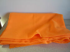 "Orange Floresent Felt Fabric 2 yds x 32"" x 72"" Sewing Crafts Halloween Fall"