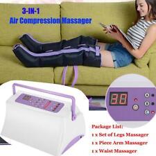 Air Circle Compression Massage Pressure Therapy Machine Leg +Arm +Waist Cuff Set