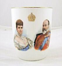 Royal Doulton Edward VII & Alexandria Coronation Beaker 1902 Made In England