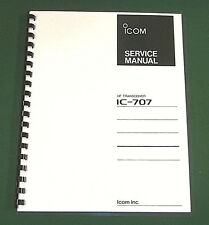 Icom IC-707 Service Manual - Premium Card Stock Covers & 28 LB Paper!