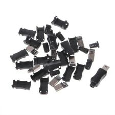 10Sets DIY Mini USB 2.0 5PIN Plug Socket With Tail Connector With Plastic Cover