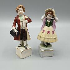 Zwei Porzellanfiguren Scheibe-Alsbach in Thüringen, Pärchen als Mann und Frau