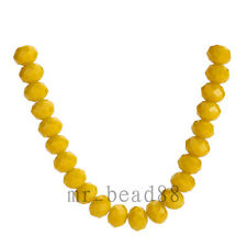 100-1000pcs Faceted Rondelle Crystal Glass Beads 4mm Spacer Jewelry Findings