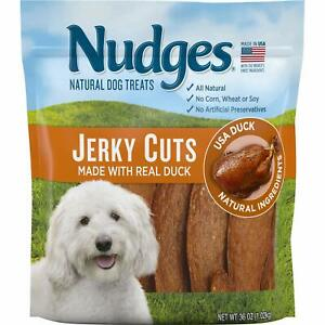 Nudges Natural Dog Treats Jerky Cuts Made with Real Duck 36 Ounce
