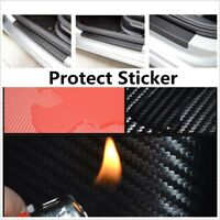 Car Accessories Door Sill Carbon Fiber Protect Sticker Fire Prevention Anti-kick
