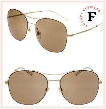 GUCCI TECHNO COLOR 4253 Gold Brown Round Steel Mirrored Sunglasses GG0501 Women