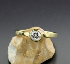 Solitär Brillant Ring 0,25 carat G/VS 750 Gelbgold Viertelkaräter W. 1900 Euro